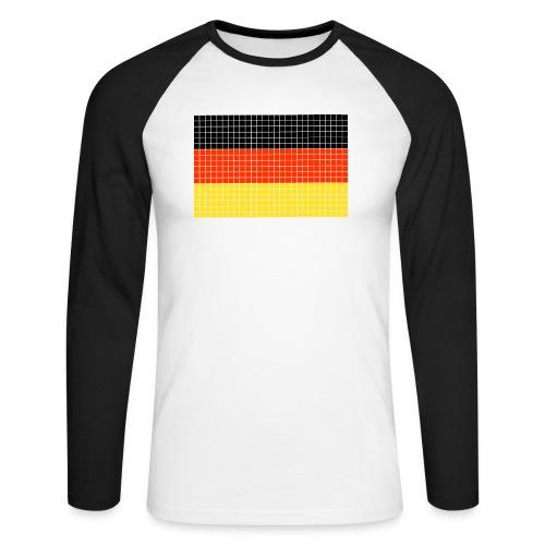german flag.png - Maglia da baseball a manica lunga da uomo