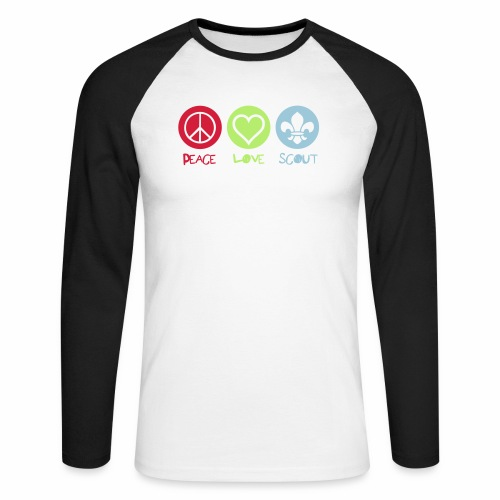 Peace Love Scout - T-shirt baseball manches longues Homme