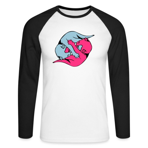 Yin and Yang Kitties - Men's Long Sleeve Baseball T-Shirt
