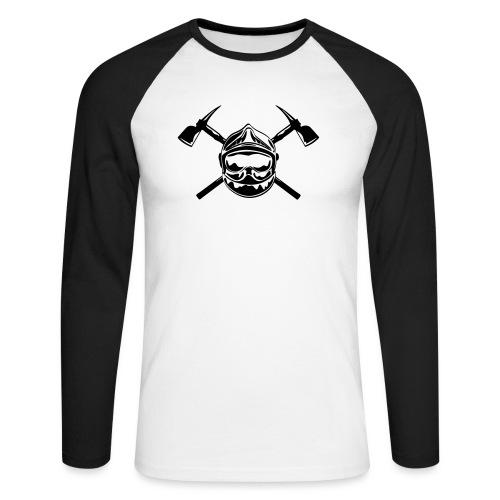 casque_pompier_2 haches - T-shirt baseball manches longues Homme