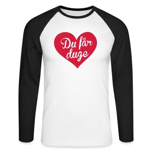 Ekte kjærlighet - Det norske plagg - Langermet baseball-skjorte for menn