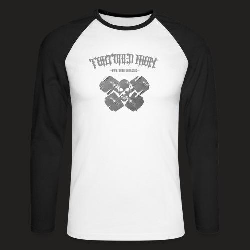 skull - Men's Long Sleeve Baseball T-Shirt