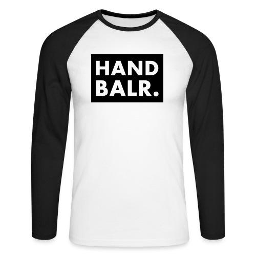 Handbalr Wit - Mannen baseballshirt lange mouw