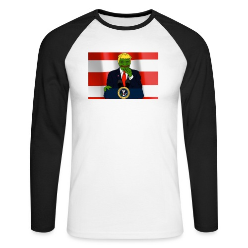 Pepe Trump - Men's Long Sleeve Baseball T-Shirt