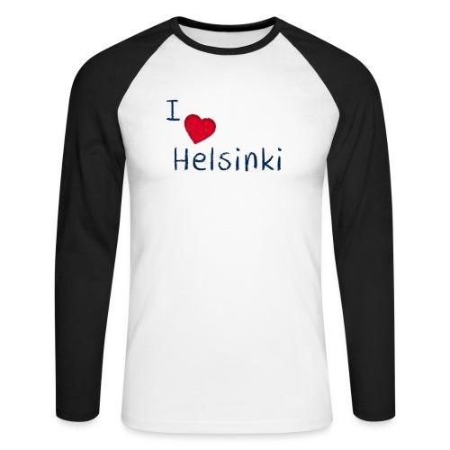 I Love Helsinki - Miesten pitkähihainen baseballpaita
