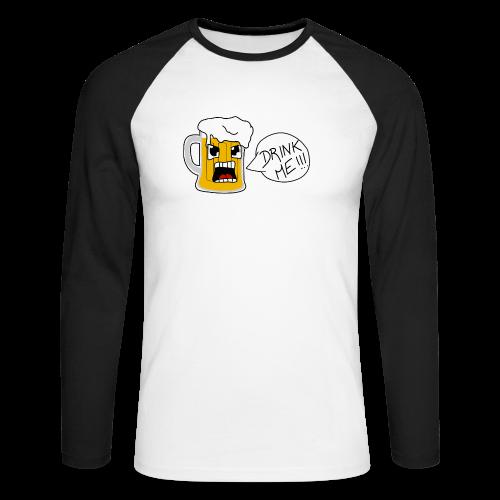 Bière - T-shirt baseball manches longues Homme