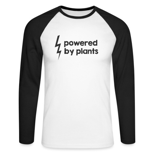 Powered by plants - Männer Baseballshirt langarm
