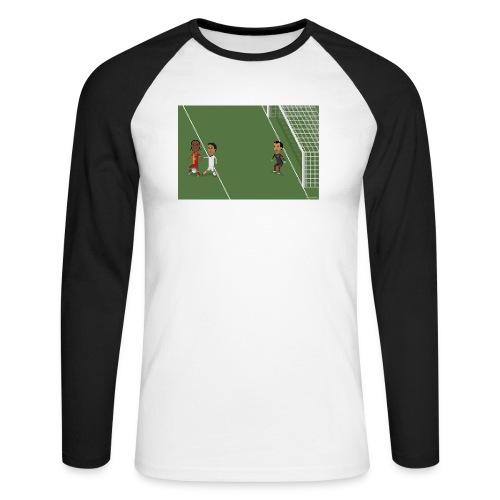 Backheel goal BG - Men's Long Sleeve Baseball T-Shirt