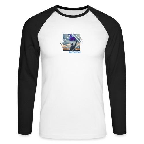 Pyro Lila - Männer Baseballshirt langarm