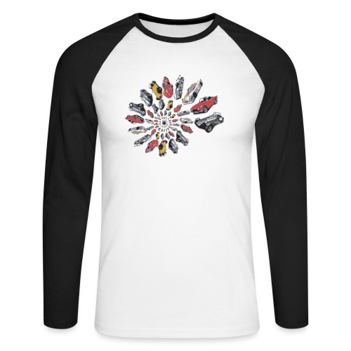 Car Swirl - Men's Long Sleeve Baseball T-Shirt