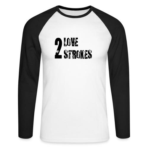 Love 2 Strokes - Maglia da baseball a manica lunga da uomo