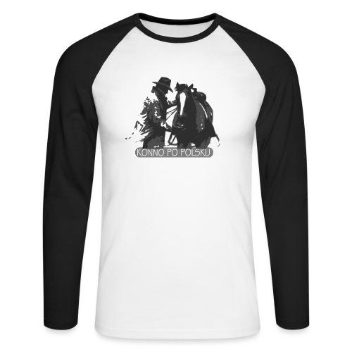 horse2 - Koszulka męska bejsbolowa z długim rękawem