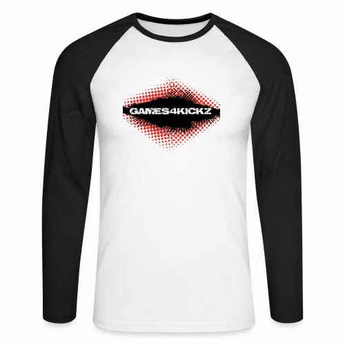 Games4Kickz Logo 003 - Men's Long Sleeve Baseball T-Shirt