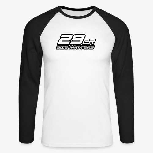 29er size matters - Men's Long Sleeve Baseball T-Shirt