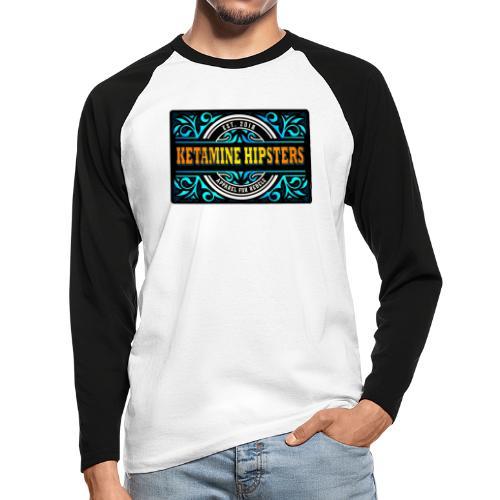 Black Vintage - KETAMINE HIPSTERS Apparel - Men's Long Sleeve Baseball T-Shirt