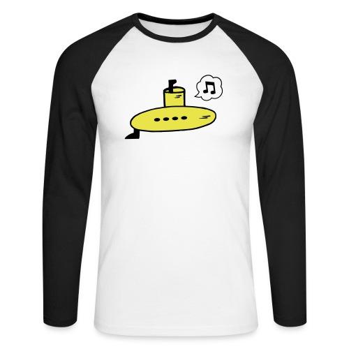 Singing Yellow Submarine - Men's Long Sleeve Baseball T-Shirt