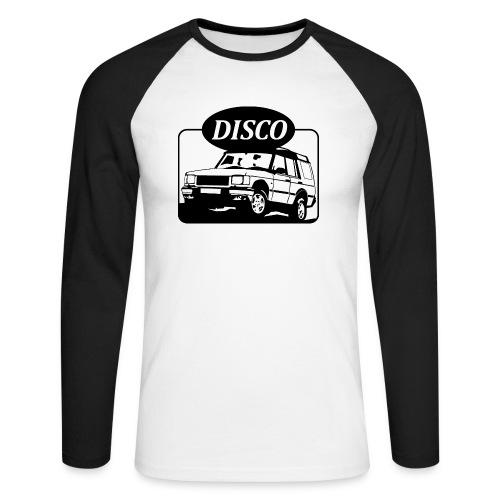 landroverdisco01dblack - Langermet baseball-skjorte for menn