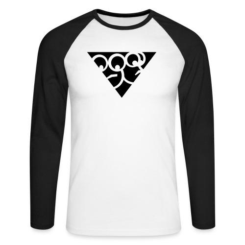 Aussenseiter-Shirt (Schwarz-Gelb) - Männer Baseballshirt langarm