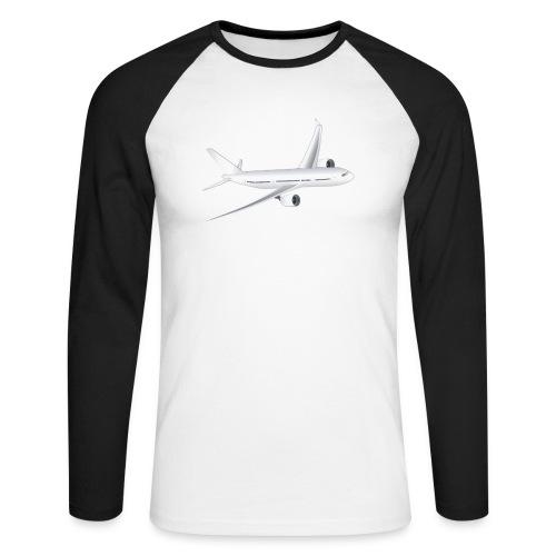 Flugzeug - Männer Baseballshirt langarm