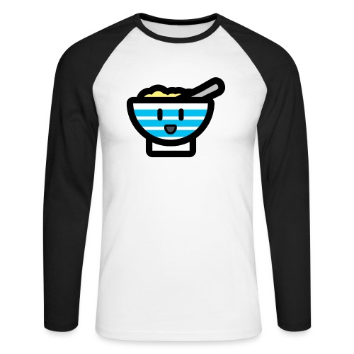 Cute Breakfast Bowl - Men's Long Sleeve Baseball T-Shirt