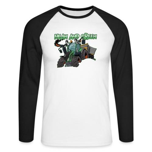 F 718Vario mean and green - Mannen baseballshirt lange mouw