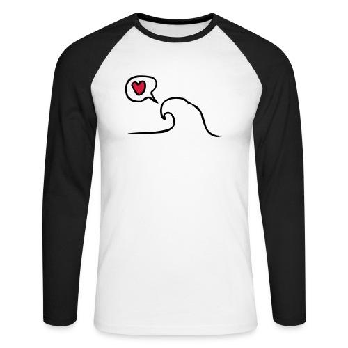 Love Wave - Mannen baseballshirt lange mouw