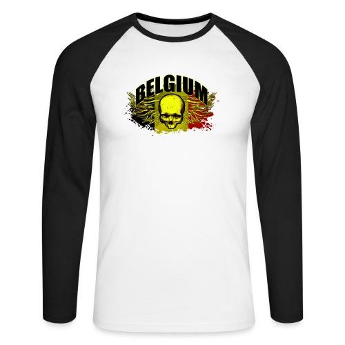 Belgium Devil - Mannen baseballshirt lange mouw