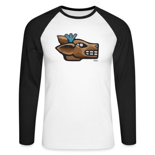 Aztec Icon Deer - Men's Long Sleeve Baseball T-Shirt