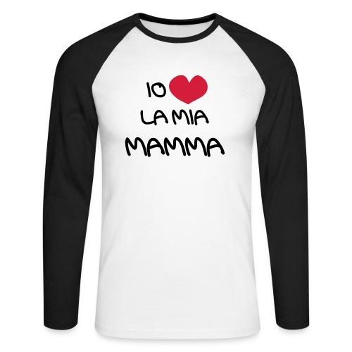 Io Amo La Mia Mamma - Maglia da baseball a manica lunga da uomo