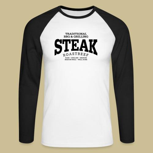 Steak (black) - Männer Baseballshirt langarm