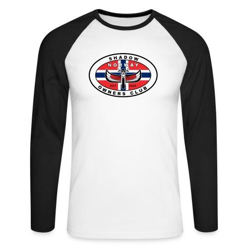 SHOC Norway Patch jpg - Langermet baseball-skjorte for menn