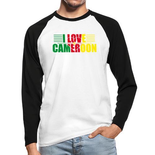 love cameroun - T-shirt baseball manches longues Homme