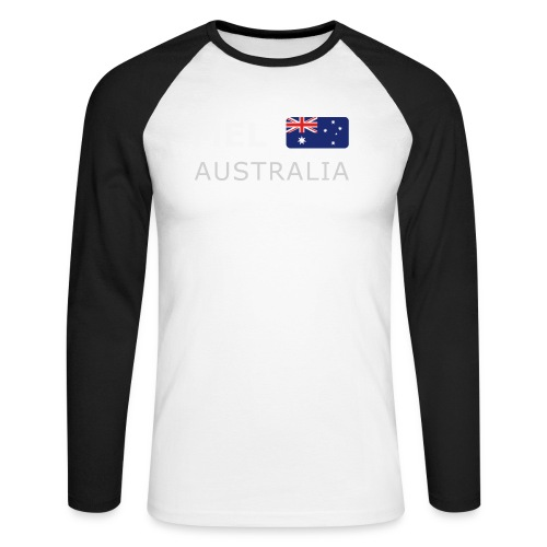 MEL AUSTRALIA white-lettered 400 dpi - Men's Long Sleeve Baseball T-Shirt