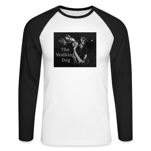 Pies spacerowy - Koszulka męska bejsbolowa z długim rękawem