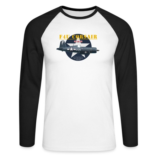 F4U Jeter VBF-83 - Men's Long Sleeve Baseball T-Shirt