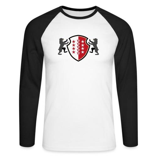 Shield of Valais - Wallis with bears - Männer Baseballshirt langarm