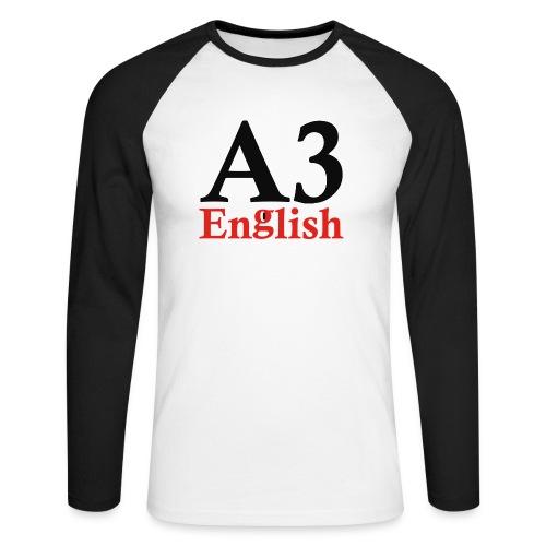 A3Small logo 1 - Men's Long Sleeve Baseball T-Shirt
