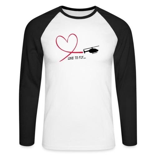 love_to_fly_jet_ranger - Männer Baseballshirt langarm