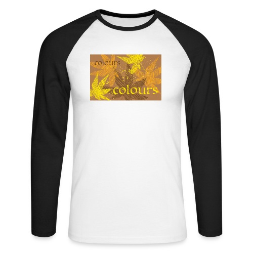 autumn theme - Koszulka męska bejsbolowa z długim rękawem