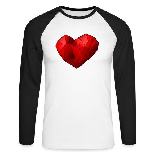 Heartart - Men's Long Sleeve Baseball T-Shirt