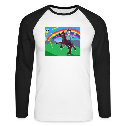 Regnbue Strandfisk Musematte - Langermet baseball-skjorte for menn