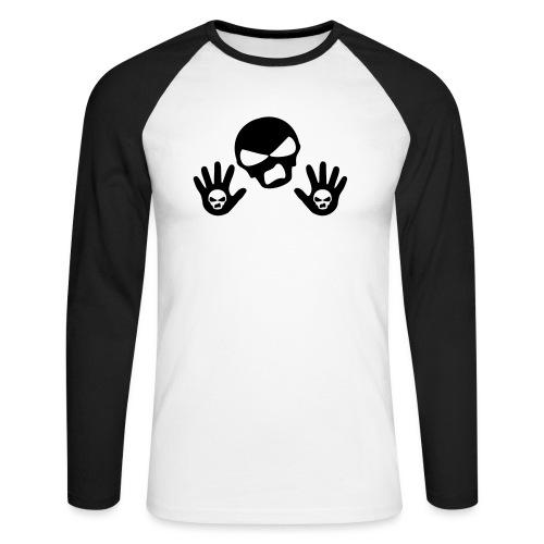 Scottish Button Saltire - Men's Long Sleeve Baseball T-Shirt