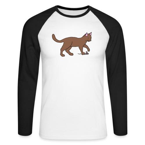 Le chat et la souris - T-shirt baseball manches longues Homme