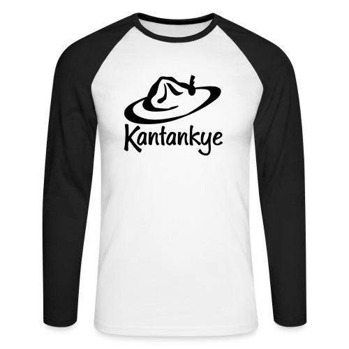 logo hoed naam - Mannen baseballshirt lange mouw
