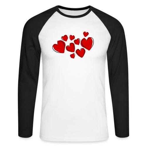 hearts herzen - Männer Baseballshirt langarm