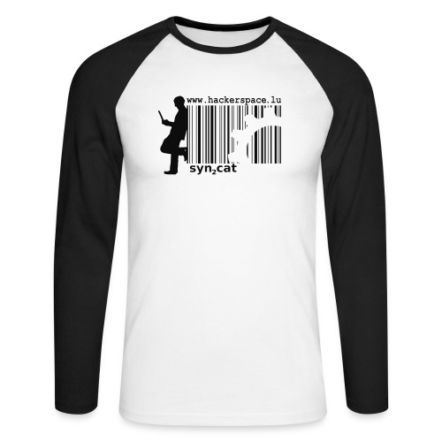 syn2cat hackerspace - Men's Long Sleeve Baseball T-Shirt