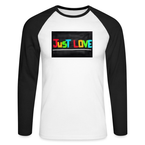 Just love tasse - T-shirt baseball manches longues Homme