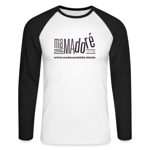 T-Shirt - Uomo - Logo Standard + Sito - Maglia da baseball a manica lunga da uomo