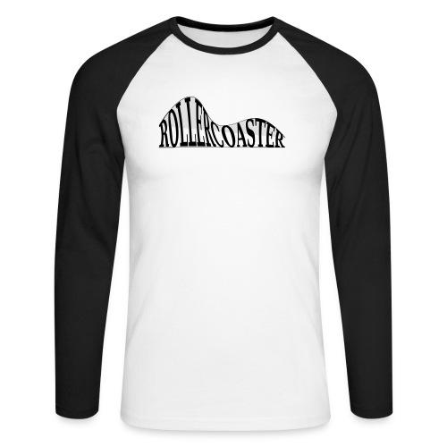 envelope_coaster - Langærmet herre-baseballshirt