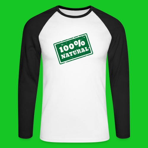 100% natural PNG - Mannen baseballshirt lange mouw